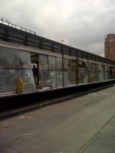 Foto: Protestas en Transmilenio - Destrucción de estación Calle 72