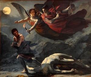 Justicia y venganza divina (1808) óleo sobre lienzo, por Pierre-Paul Prud'hon
