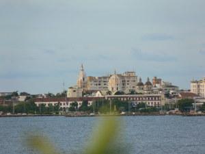 Cartagena (Centro histórico visto desde Bocagrande)