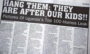 Titular del tabloide ugandés Rolling Stone que regularmente publica los nombres de ciudadanos homosexuales.