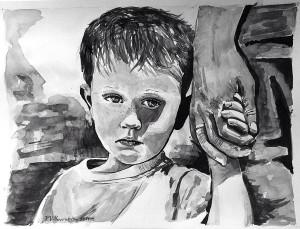 De la mano (padre e hijo)